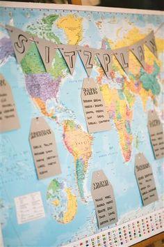 DIY - Sitzplan - Weltkarte