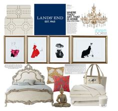"""""""Design Your Dream Dorm with Lands' End: Contest Entry"""" by bklana ❤ liked on Polyvore featuring interior, interiors, interior design, home, home decor, interior decorating, Lands' End, Crate and Barrel, Villa Home Collection and Valentino"""