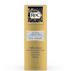 RoC Retinol Correxion Eye Cream Anti Itch Cream, Anti Aging Eye Cream, Homemade Facial Moisturizer, Homemade Facials, Facial Cleanser, Best Under Eye Cream, Under Eye Wrinkles, Lush Products, Beauty Products