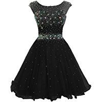 Sarahbridal Women's Short Tulle Beading Homecoming Dress Prom Gown AJ032
