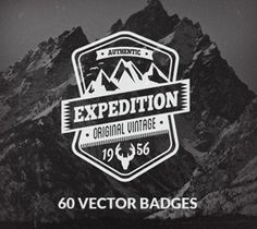60 Vector Badges and Logos Bundle | GraphicMonkee