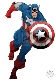 Captain America by on Marvel Comics Superheroes, Marvel Heroes, Marvel Characters, Captain America Pictures, Captain America Art, Avengers Art, Marvel Art, Comic Books Art, Comic Art