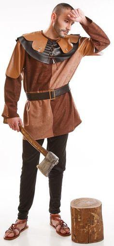 DisfracesMimo, disfraz leñador medieval hombre adulto.Con este disfraz de Leñador Medieval para hombre estarás perfecto para las Fiestas Medievales.Este disfraz es ideal para tus fiestas temáticas de disfraces epoca y medievales para la edad media de hombre adultos