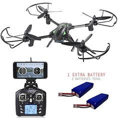 Contixo F6 RC Quadcopter Racing Drone 24Ghz 6Axis Gyro with 720P HD Camera FPV Live Feed Headless 36 Mins Flight Time 360 Flips Mobile App 2 Batteries Hover VR Ready F6 Bundle1 ** You can find more details by visiting the image link-affiliate link. #Drone