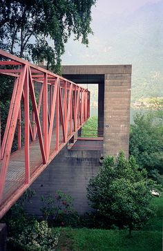 one of the most incredible entrances ever for a low budget house - Bianchi Residence. Riva San Vitale, Ticino, Switzerland. 1971-1973. Mario Botta -