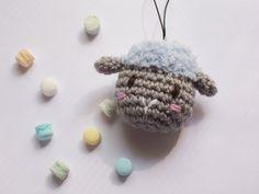 blue sheep amigurumi keychain _ Bisscotton