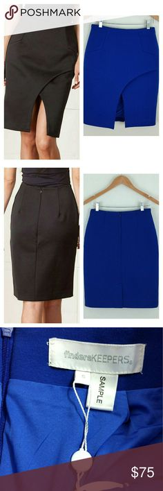 Finders Keepers Scuba Front Split Skirt Finders Keepers Scuba Front Split Skirt. Cobalt blue. Back zip. NWT.   No trade or PP  Offers Considered  Bundle discounts Finders Keepers Skirts Pencil
