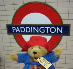 Paddington Bear at Paddington Underground station, London Into The West, Paddington Bear, England And Scotland, London Underground, London Calling, Children's Literature, London England, Great Britain, My Childhood