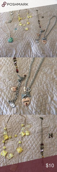 Necklace sets Super cute sets either necklace with earrings & necklace with bracelet & a heart ❤️ necklace Accessories
