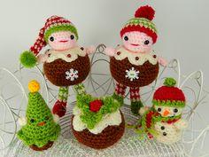 Ravelry: Christmas Pudding People pattern by Moji-Moji Design