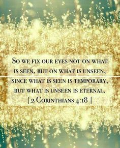 2 Corinthians 4:18....another version of the verse! :)