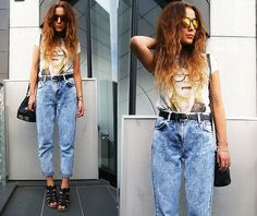 Love this outfit with the baggy jeans Topshop Jeans, Topshop Shoes, Love Fashion, Autumn Fashion, Womens Fashion, Beautiful Outfits, Cute Outfits, Zara Trousers, Mom Jeans Outfit