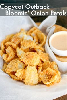 Outback Bloomin' Onion Petals (Copycat) Outback Bloomin' Onion Petals taste just like the popular recipe! Pair them with the Bloom Sauce and. Blooming Onion Recipes, Outback Blooming Onion Sauce, Onion Petals, Recipe Creator, Appetizer Recipes, Appetizers, Fondue Recipes, Popular Recipes, Easy Recipes