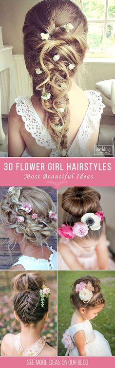 30 Cute Flower Girl Hairstyles ❤ It is necessary to find pretty hairstyle for your flower girl. Here you'll find simple flower girl hairstyles and more complex which made by a professional. See more http://www.weddingforward.com/flower-girl-hairstyles/ ‎ ‎#wedding #hairstyles