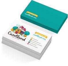 Carolland - Business Card by Carol Vieira, via Behance