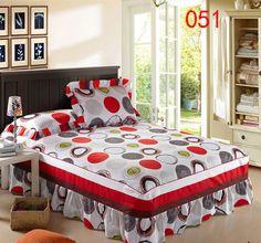 Casa rosso bianco giallo gonna letto coprimaterasso petticoat gemelli pieno queen gonne letto king copriletto bedskirt 200x220 cm 120x200 cm(China (Mainland))
