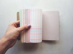 Upcycled paper notebook - How to wear your tights
