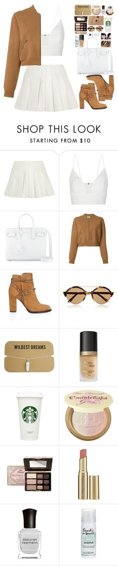 """Faded"" by vanessasimao1999 ❤ liked on Polyvore featuring Alexander Wang, Narciso Rodriguez, Yves Saint Laurent, Acne Studios, Valentino, Illesteva, Too Faced Cosmetics, Poketo, Deborah Lippmann and Bumble and bumble"