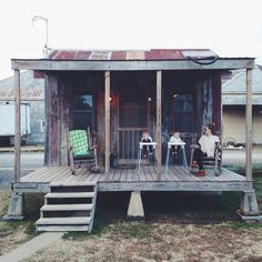 Shack Up Inn - Old sharecropper shacks turned into little cabins to rent, plus great music & great food. Got to go! Clarksdale, Mississippi
