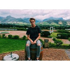 """[ fc: neels visser ] """"heyo! I'm jack! I'm 19 and single. my aesthetic is suburbia and neon."""" I smile. """"intro?"""""""