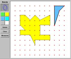 This FREE virtual Geoboard comes in handy for teaching perimeter and area of 2D figures.