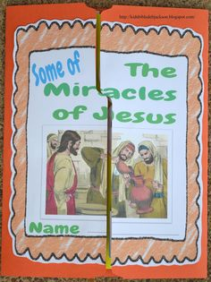Some of the miracles of Jesus. Lap book, teachers guide, a BUNCH of stuff.