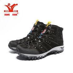 XIANGGUAN Man vaelluskengät Ulkoilu Urheilu lenkkarit Suede Mountain mies  musta Kiipeily Leirintäkengät High Cut Trekking kengät 52ef12ddfd