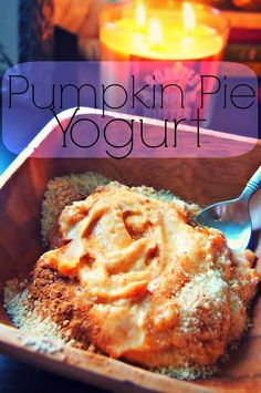 Pre Run Fuel: Pumpkin Pie Yogurt! via undressed skeleton #fall #healthy
