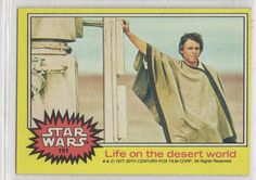 STAR WARS - 1977 TOPPS #191 LIFE ON THE DESERT WORLD (LUKE) NM-MINT