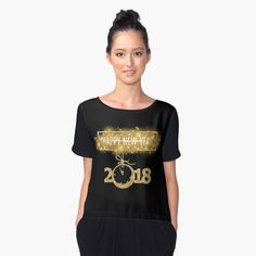 2018 New Year-Gold life Women's Chiffon Top Front