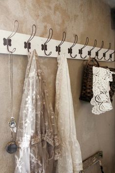 """Give me books, French wine, fruit, fine weather and a little music played out of doors by someone I do not know. French Cottage, Cottage Style, French Country, Taupe, Beige, French Wine, Linens And Lace, Vintage Lace, Vintage Hooks"