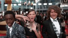 Cast of Stranger Things at the Emmy's