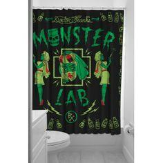Cortina baño monster