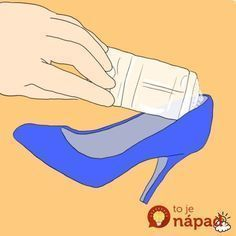 You can very easily prevent blisters while wearing new shoes by applying clear gel deodorant to the areas in the shoe that are most likely to cause friction with your skin. The gel in the deodorant acts as a lubricant, according to Lifehacker. Clean Shoes, Health And Beauty Tips, Home Hacks, Comfortable Shoes, Cleaning Hacks, Shabby Chic, Helpful Hints, Beauty Hacks, Prevent Blisters