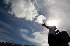 """October 23, 2012 """"The afternoon sun beams down on the President during a campaign rally in Delray, Fla."""" (Official White House Photo by Pete Souza)"""