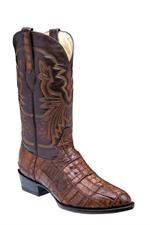 Corral Men's Croc Patchwork Brown Cowboy Boots