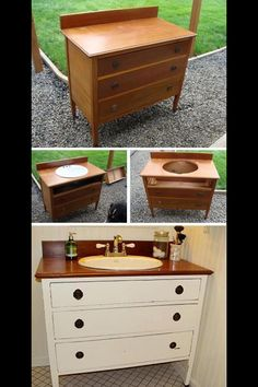 Re use it! Great idea for a chic sink
