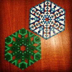 Hama perler bead coasters by karina_oeh