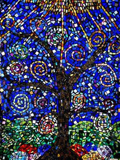 Tree Of Life Mosaic So Cool