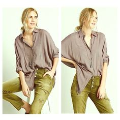FREE PEOPLE Tunic NWT NWT AND SOLD OUT EVERYWHERE! Gorgeous and super soft Free People Boyfriend Tunic  Retail $108  Color is Smoke Purple  Free People Tops Tunics