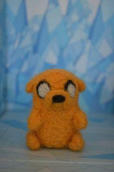 Wool Sculpture of Adventure Time Jake Jake the by MinnowandMopi, $7.00