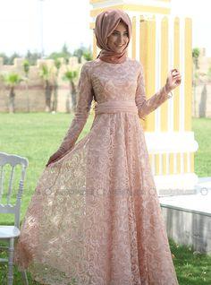 Azra Evening Dress - Blush  - Nurbanu Kural