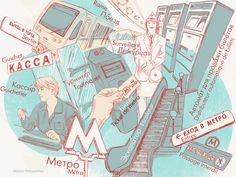 Dictionnaire visuel du russe : dans le métro