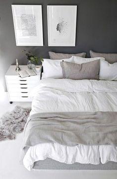 Simple Bedroom Decor, Decor Room, Home Decor Bedroom, Bedroom Furniture, Bedroom Ideas, Bedroom Designs, Master Bedroom, Trendy Bedroom, Bedroom Art