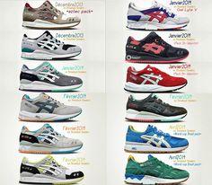 Dziś przed Wami kilka zdjęć katalogowych kolekcji butów Asics na przełom roku i pierwszy kwartał przyszłego. Widoczne tu buty będą pojawiały się w sklepach od grudnia bieżącego roku do kwietnia 2014 roku. Część z nich już pokazywaliśmy, między innymi zestawienieAsics – Gel Lyte V czy kilka pozycji jeśli chodzi o modelAsics – GT-Cool. Widzieliście też …
