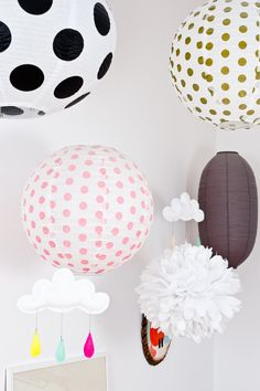 #lanterns, #decor, #kids-room    Read More: http://stylemepretty.com/2013/04/01/at-home-with-caroline-gomez-from-julien-fernandez/