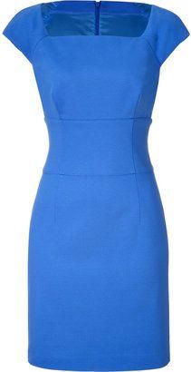 ShopStyle: Hugo Medium Blue Shift Dress - Outfit 19