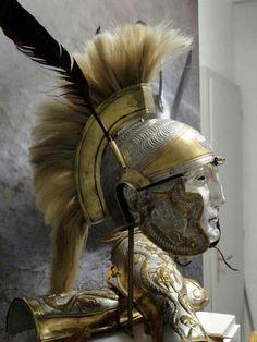 Roman ceremonial helmet