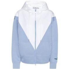 Adidas by Stella McCartney Studio Hoodie (550 BRL) ❤ liked on Polyvore featuring tops, hoodies, blue, jackets, adidas top, adidas, hooded pullover, blue hooded sweatshirt and adidas hoodies