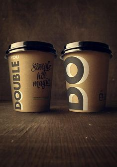 Designed and branded by lift creative , double u coffee is a coffee-to-go c Coffee Packaging, Coffee Branding, Brand Packaging, Food Packaging, Coffee Pods, Coffee Cafe, Coffee Shop, Paper Cup Design, Bamboo Cups